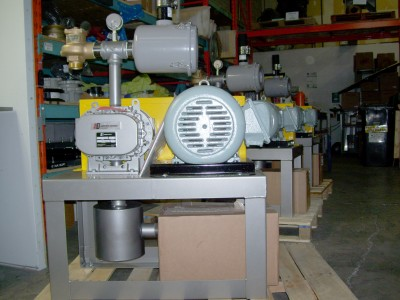 Vacuum pump packages for the food industry