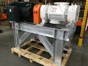 Cycloblower model 7CDL14 with galvanized base for a biogas application