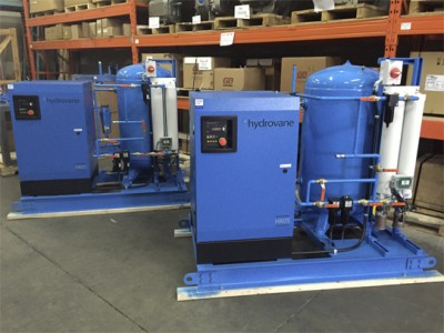 Hydrovane compressors with dryer & tank for hydroelectric power plant