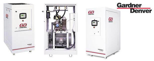 Compresseurs d'air à vis lubrifiés 50 HP à 500 HP - Integra de Gardner Denver distribué par Aircom Technologies, Montréal, Québec
