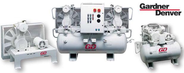 Compresseurs d'air à pistons - exempt d'huile - 3/4 HP à 5 HP – PureAir II de Gardner Denver distribué par Aircom Technologies, Montréal, Québec