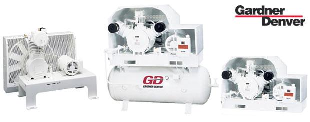 Compresseurs d'air à pistons - exempt d'huile - 5 HP à 15 HP – PureAir de Gardner Denver distribué par Aircom Technologies, Montréal, Québec
