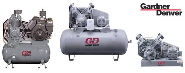 Compresseurs d'air à pistons - 5 HP à 30 HP – Série R de Gardner Denver distribué par Aircom Technologies, Montréal, Québec
