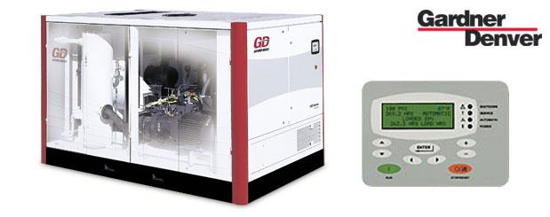 Compresseurs d'air à vis à vitesse variable – Double stage - 75 HP à 350 HP – Série-VST de Gardner Denver distribué par Aircom Technologies, Montréal, Québec