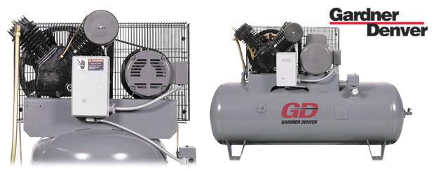 Compresseurs d'air à pistons - 3 HP à 7.5 HP – Value-Plus de Gardner Denver distribué par Aircom Technologies, Montréal, Québec