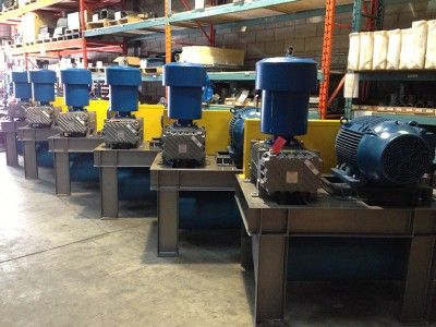 Heliflow 514 blower packages for a cement plant