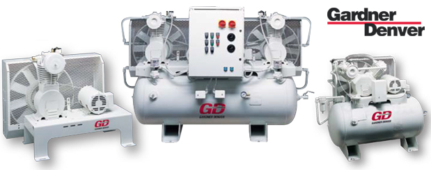 PureAir II oil-free piston compressors - 3/4 HP to 5 HP from Gardner Denver distributed by Aircom Technologies, Montreal, Quebec