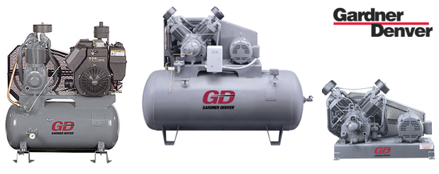 Piston compressors R-Series - 5 HP to 30 HP from Gardner Denver distributed by Aircom Technologies, Montreal, Quebec