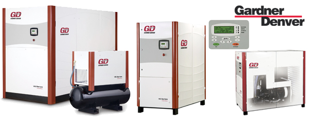 Single stage variable speed rotary screw compressors 15 HP to 335 HP – VS Series from Gardner Denver distributed by Aircom Technologies, Montreal, Quebec