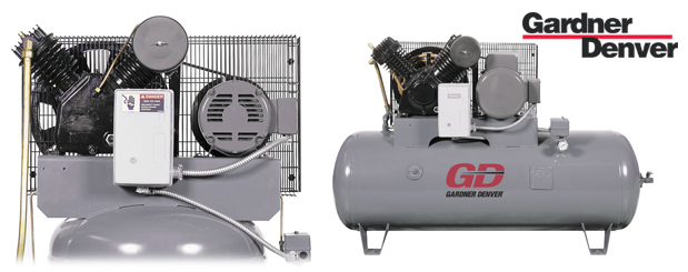 Piston compressors Value-Plus - 3 HP to 7.5 HP from Gardner Denver distributed by Aircom Technologies, Montreal, Quebec