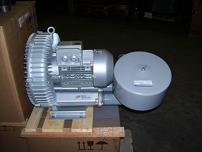 Regenerative blower package for waste water aeration
