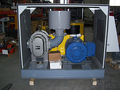 Sutorbilt Legend blower package with noise enclosure for pneumatic conveying