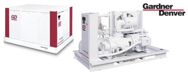 Compresseurs d'air à vis lubrifiés 50 HP à 500 HP - Electra-Saver de Gardner Denver distribué par Aircom Technologies, Montréal, Québec