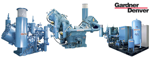 Compresseurs d'air à pistons à haute pression - exempt d'huile - 1.5 à 75 HP– Belliss & Morcom de Gardner Denver distribué par Aircom Technologies, Montréal, Québec