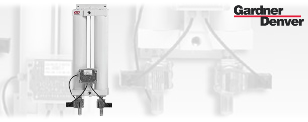 Desiccant compressed air dryers GDHM Series are sold by Aircom Technologies, Montreal, Quebec. Tel: 514-695-4740