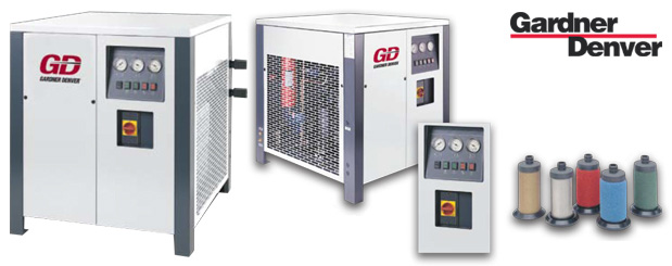 Refrigerated High Pressure compressed air dryers - RHP Series are sold by Aircom Technologies, Montreal, Quebec. Tel: 514-695-4740