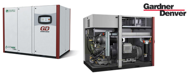 Double stage oil-free variable speed rotary screw compressors EnviroAire VST - 100 HP to 215 HP  from Gardner Denver distributed by Aircom Technologies, Montreal, Quebec