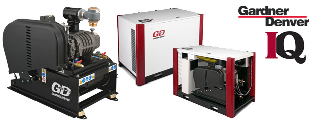 The positive displacement blower IQ packages from Gardner Denver are sold by Aircom Technologies, Montreal, Quebec. Tel: 514-695-4740