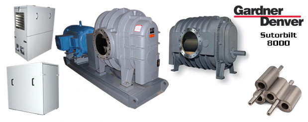 The positive displacement blowers - Sutorbilt Legend 8000 from Gardner Denver are sold by Aircom Technologies, Montreal, Quebec. Tel: 514-695-4740
