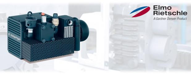 Pompes à vide à crochets, vide et pression combiné Série-C, C-KLR 80/140 Elmo Rietschle, distribué par Aircom Technologies, Montréal, Québec