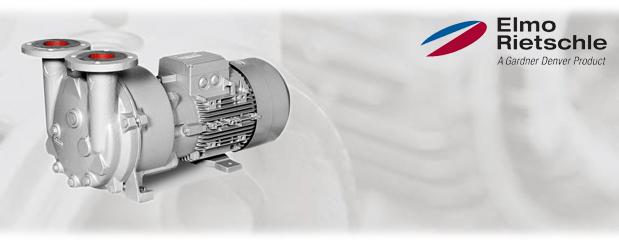 Pompes à vide à anneau liquide - recirculation; aucune, partielle ou complete L-BV5 (L_300) Elmo Rietschle, distribué par Aircom Technologies, Montréal, Québec