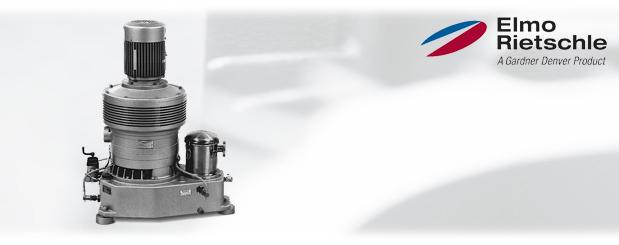 Pompes à vide à palettes lubrifiées à l'huile fraîche Série-V, V-VLV-2 25 à 100 Elmo Rietschle, distribué par Aircom Technologies, Montréal, Québec