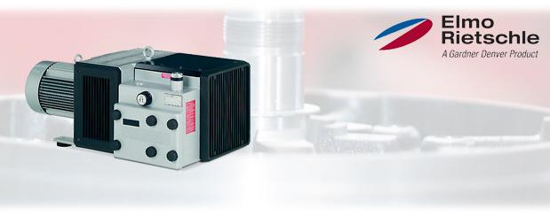 Pompes à vide à palettes sèches Série-V, V-VTE d' Elmo Rietschle, distribué par Aircom Technologies, Montréal, Québec
