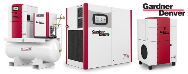 Lubricated rotary screw compressors 10 HP to 180 HP – L-RS Series from Gardner Denver distributed by Aircom Technologies, Montreal, Quebec