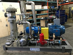 Ro-Flo biogas compressor for an environmental project
