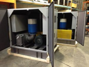 75 HP Heliflow blower packages for an aluminum smelter