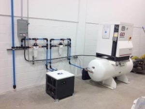 Endurair 20HP compressor and Transair piping network
