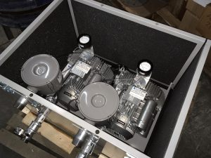 Regenerative blowers in an acoustic enclosure