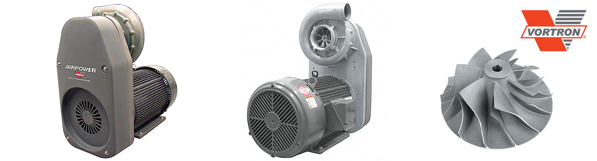 Soufflantes à basse pression Airpower de Vorton / Aircom Technologies of Montreal, Quebec, is an authorized distributor and service center for Vortron - Low pressure blowers