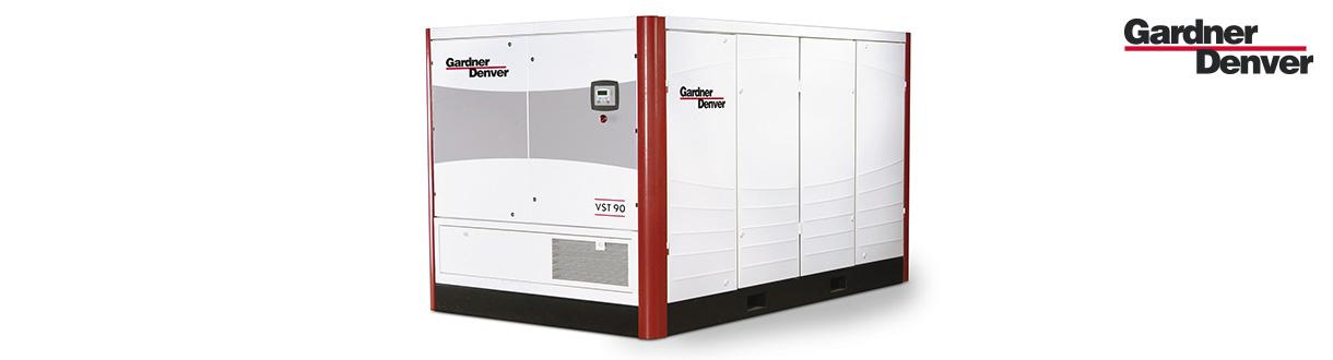 Aircom Technologies, distributeur autorisé et centre de service des compresseurs d'air à vis à vitesse variable double stages Série VST - 75 à 350 HP - de GD pour l'est du Canada.