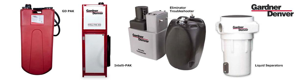 Aircom Technologies, Montréal, Québec, est distributeur autorisé et centre de service des séparateurs eau/huile Gardner Denver