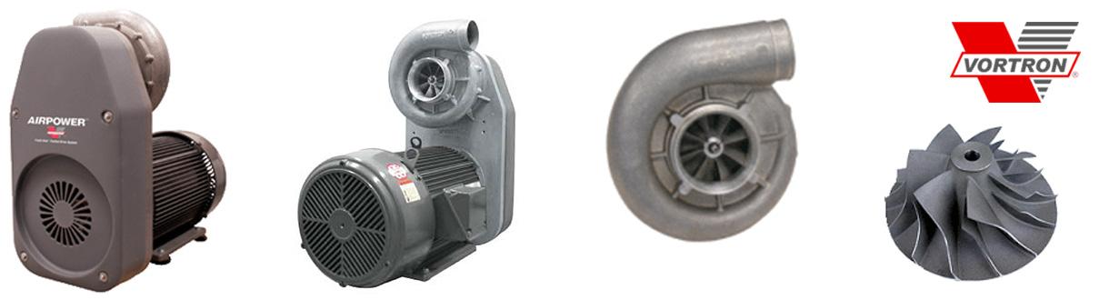 Aircom Technologies de Montréal, Québec, est distributeur autorisé et centre de service des soufflantes centrifuges à simple stage Vortron
