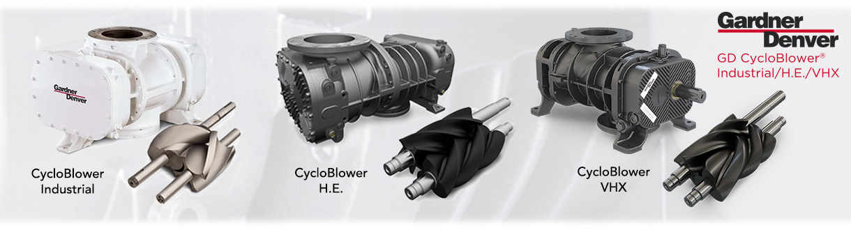 surpresseurs à déplacement positif à lobes hélocoïdales – CycloBlower / Aircom Technologies of Montreal, Quebec, an authorised distributor & service center for the positive displacement blowers CycloBlower by GD for Eastern Canada.