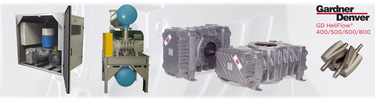 Surpresseurs à déplacement positif – HeliFlow / Aircom, is an authorized distributor & service center for Heliflow 400/500/600/800 Positive displacement blowers (helical tri-lobe) for Eastern Canada.