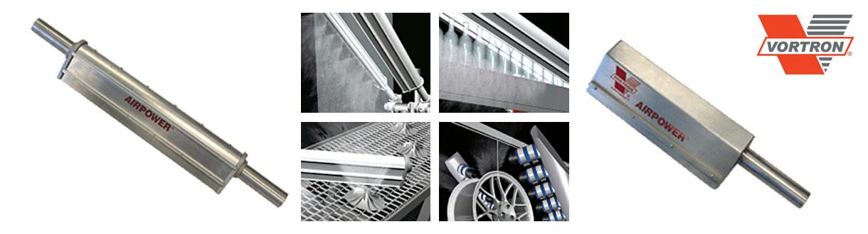 Aircom Technologies de Montréal, Québec, est distributeur autorisé et centre de service des couteaux d'air de Vortron / Aircom Technologies of Montreal, Quebec, is an authorized distributor and service center for Vortron - Air knives