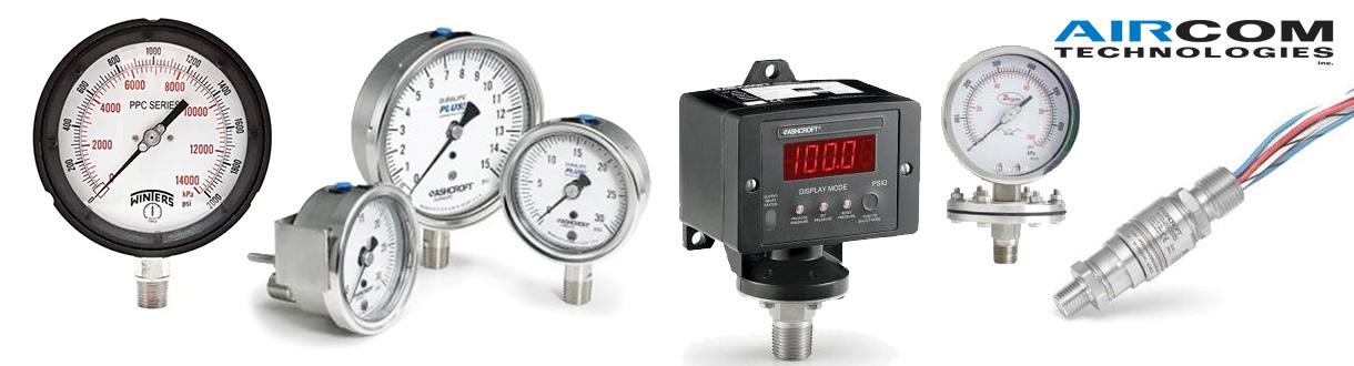 Aircom Technologies de Montréal, Québec, est un distributeur d'accessoires pour des applications d'air et gaz pour la pression ou le vide - Instrumentations