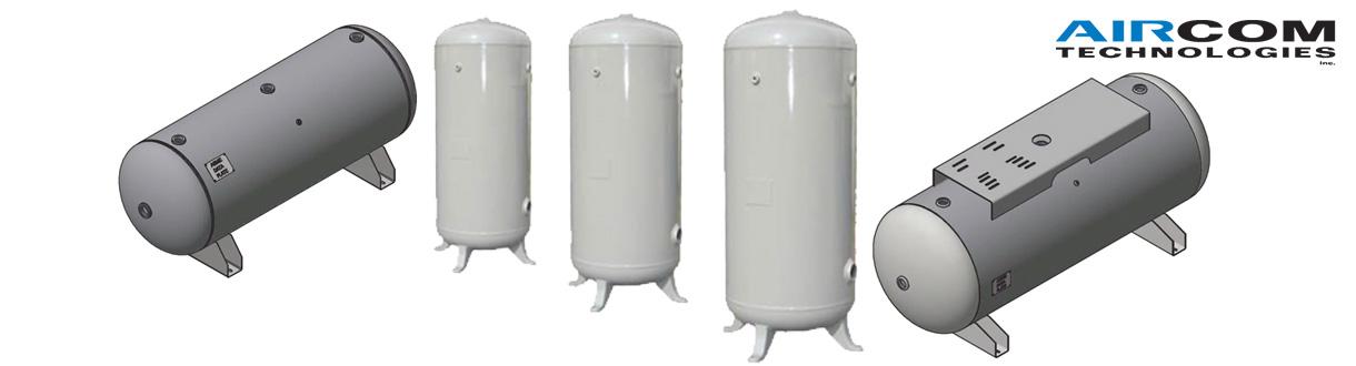 Aircom Technologies de Montréal, Québec, est un distributeur d'accessoires pour des applications d'air et gaz pour la pression ou le vide - Réservoirs d'air